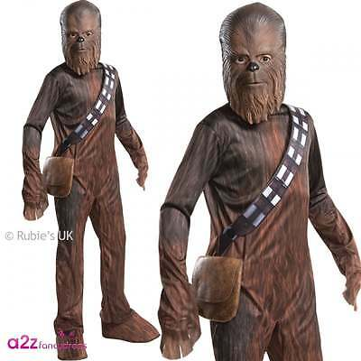 Boys Chewbacca Costume Wookie Star Wars The Force Awakens Official Fancy Dress  sc 1 st  PicClick UK & CHEWBACCA WOOKIE STAR Wars Deluxe Boys Fancy Dress Costume - Kids ...