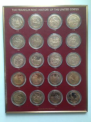 Franklin Mint History Of The United States Solid Bronze Edition Coin Collection