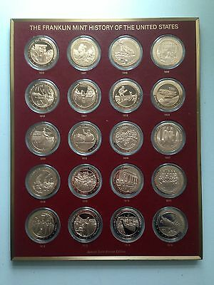 History Of The United States Franklin Mint Solid Bronze Edition Coin Collection