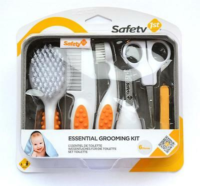 Safety First Essential Baby Grooming Set convenient case 6 Soft Grip key items