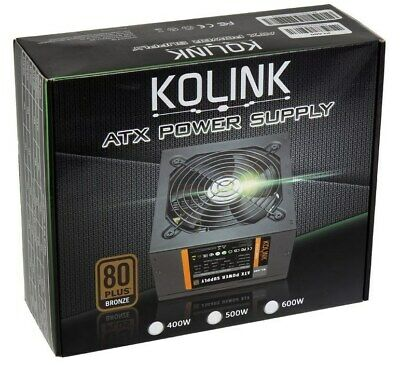 Kolink KL-400 400W Power Supply 80 Plus Bronze