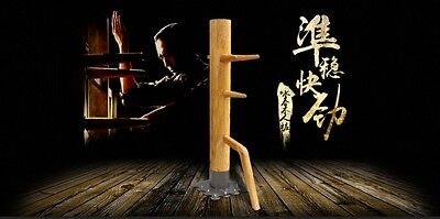 Wing Chun Mind Mook Jong, wooden dummy,Muk Yan Jong made of Solild Elm Wood