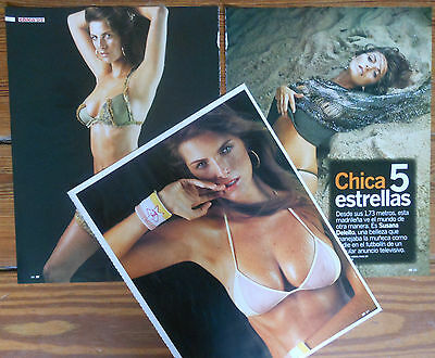 SUSANA DELEITO 5 page 2004 article sexy photos Spanish model clippings
