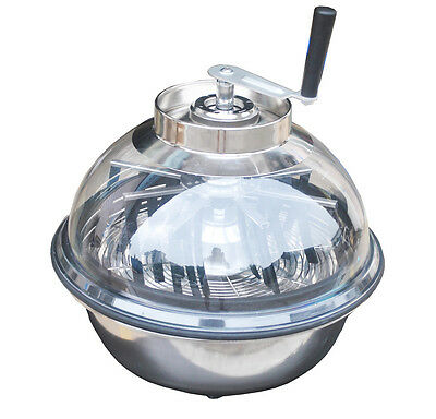 """Ultra Spin Pro & Tumble Leaf Trimmer Cutter Bowl 16"""" Hydroponics Stainless Plant"""