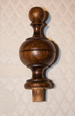 Two wooden finials for clocks and mirrors parts custom dimensions