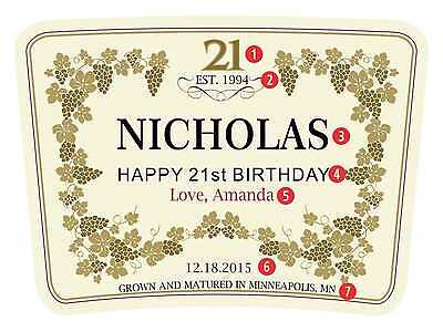 Personalized Brandy, Cognac Labels, Stickers (Best birthday gift for men)