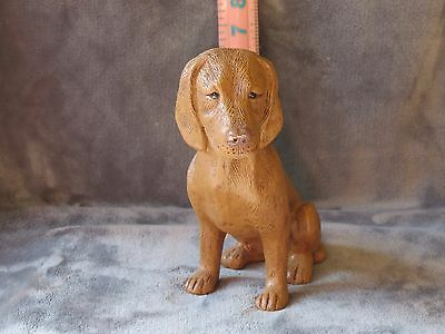Vizsla Plaster Dog Statue Hand Cast &and Painted By T.c. Schoch