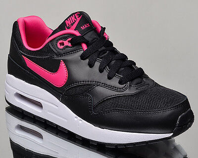 check out d16ff 6a399 Nike Air Max 1 GS youth lifestyle casual sneakers black Last size 5US  807605-006