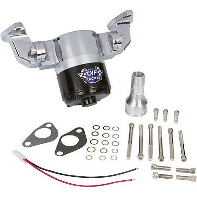 Small Block Chevy High Volume Electric Water Pump SBC 350 GM Flow Chrome