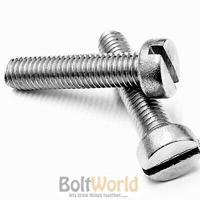 M3 / 3mm A2 STAINLESS SLOTTED CHEESE HEAD MACHINE SCREWS METRIC SLOT SCREW