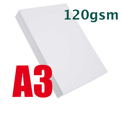 50 x A3 QUALITY HIGH WHITE PAPER 120gsm LASER, INKJET, PRINTING, CRAFTS, SCHOOLS