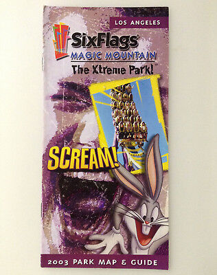 Six Flags Magic Mountain 2003 Park Map & Guide