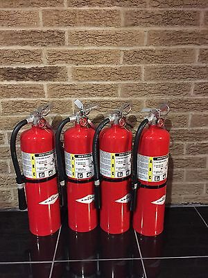 Set of 4 FIRE EXTINGUISHER (NEW IN BOX) AMEREX 10lb 10# ABC NEW CERT TAG