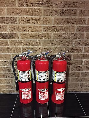 Set of 3 FIRE EXTINGUISHER 10lb 10# ABC NEW CERT TAG  (NICE)