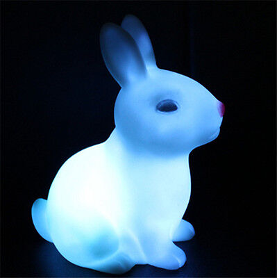 Cute Rabbit Colorful LED Night Light Creative Toys Gifts Free Shipping
