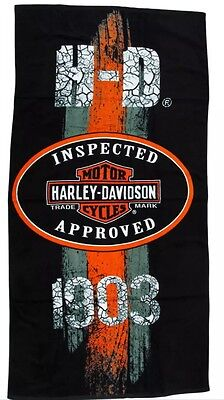 "Harley-Davidson 1903 Vintage Road Sign 30""x60"" Beach/Bath Towel"