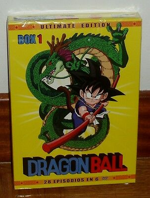 Dragon Ball-Box 1-Integra Y Sin Censura-6 Discos-Dvd-Rematerizada-Manga-Sealed