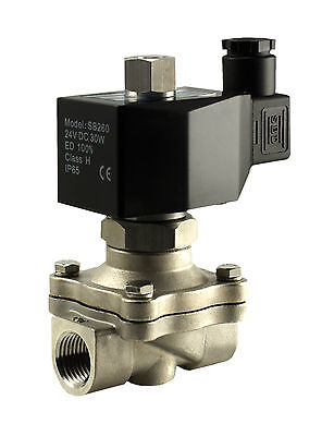 "3/4"" Inch Normally Open Stainless Zero Differential Water Solenoid Valve 110V AC"