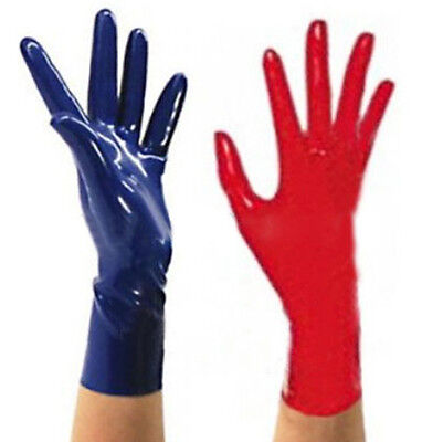 Sexy Latex Rubber Gloves W/O Edge Curl Gummi 0.4mm Club Wear For Catsuits Dress