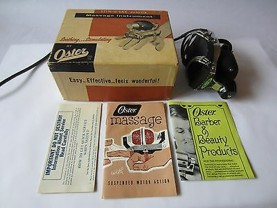 VTG Oster Stim-U-Lax Junior Plug-In Barber Hand Massager w/Box & Inserts