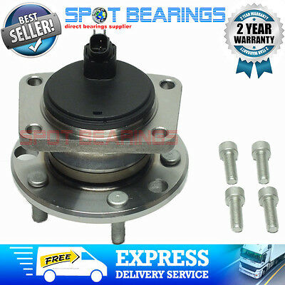 FORD MONDEO MK3 REAR WHEEL HUB BEARING with ABS SENSOR and BOLTS 2001 on