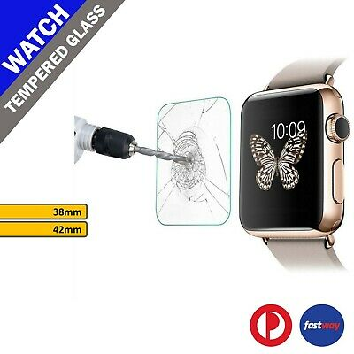Tempered Glass Screen Film Guard Protector Front Cover For Apple Watch 38mm 42mm
