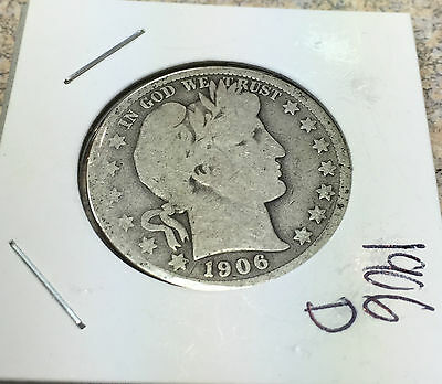 1906-D Half Dollar Barber Good Condition