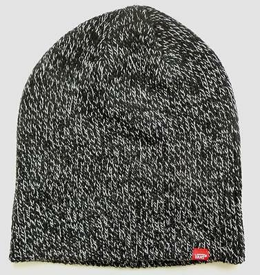 ddcc5543 VANS OFF THE Wall Core Basics Beanie Marled Black White Cap 100% Acrylic  New NWT