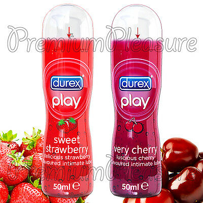 Durex PLAY Sweet Strawberry and Very Cherry Lubricant 50ml * 2 Water based lubes