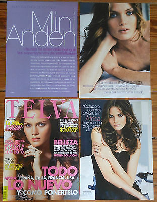 MINIE ANDEN Telva 2006 cover & 7 page article magazine clippings photos model