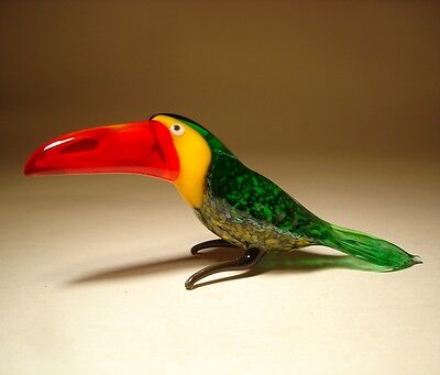 "Blown Glass ""Murano"" Art Figurine Colorful Bird TOUCAN"