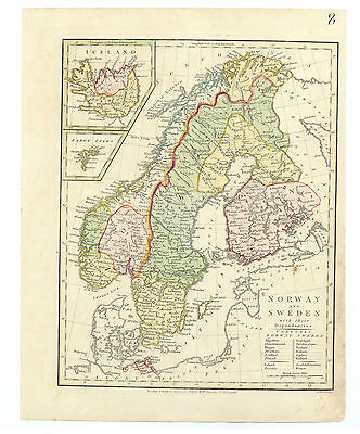 Antique Map of 1808 Sweden by Robert Wilkinson