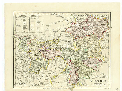 Antique Map of 1807 Austria by Robert Wilkinson