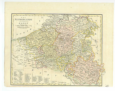 Antique Map of 1809 Netherland by Robert Wilkinson