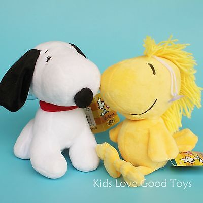 2X Movie Peanuts Snoopy & Woodstock Soft Plush Toy Stuffed Animal Doll 7'' Gift