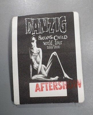 """Danzig Satans Child World Tour 1999/2000 Otto Backstage Pass """"Aftershow"""" Stamped"""