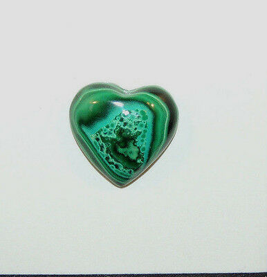 Malachite and Chrysocolla Heart Cabochon 16x15mm with 6mm dome  (9716)