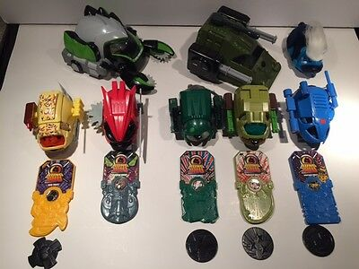 Lot of 6 Kung Zhu Pets with Armor, Battle Car, Weapons & Tanks