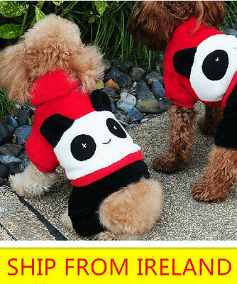Dog Coat suit Pet Clothes Winter Apparel Clothing Puppy Hoodie Cosplay panda