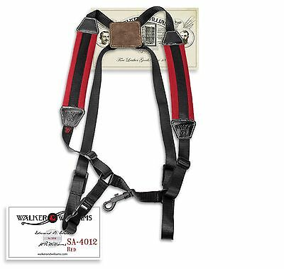 Walker & Williams SA-4012 Red Padded Saxophone Harness Bari Tenor Alto