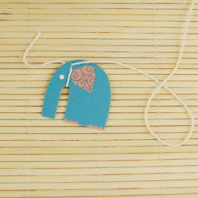 100 pieces paper tags + string, DIY Tea bag tags, elephant design