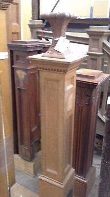 Antique Newel Post Oak With Light