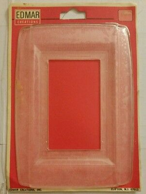 Vintage clear Edmar Creations Outlet or Light Switch outer border Plate