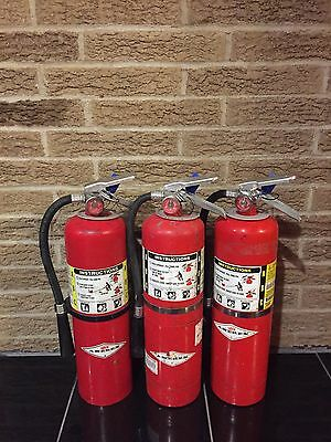 Set of 3 FIRE EXTINGUISHER 10lb 10# ABC NEW CERT TAG  (SCRATCH/DIRTY)
