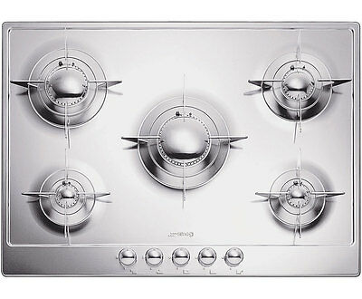 Smeg P705ES Piano Design Built In 72cm 5 Burners Gas Hob Stainless Steel New