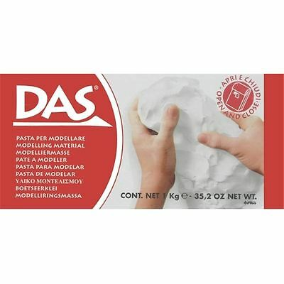 DAS White Modelling Clay Air Drying Self-Hardening Craft Pottery Making 1kg