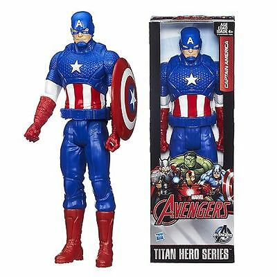 "Hasbro 12"" 30cm  Marvel The Avengers Titan Hero Series Captain America figure."