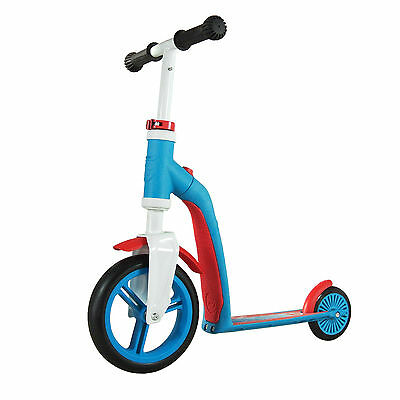 Scoot & Ride Highway Baby Blue & Red 2in1 Scooter & Bike Outdoor Kids Age 1+