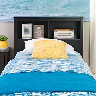 Prepac Furniture BSH-4543 Platform Storage Twin Bookcase Headboard