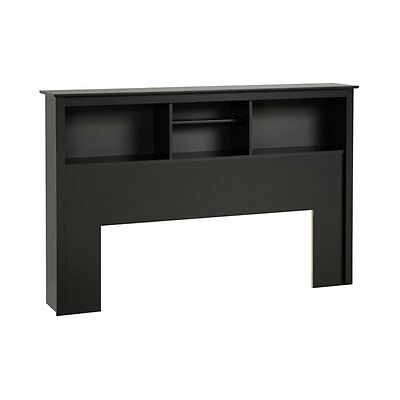 Prepac Furniture BSH-6643 Platform Storage Full/Queen Bookcase Headboard